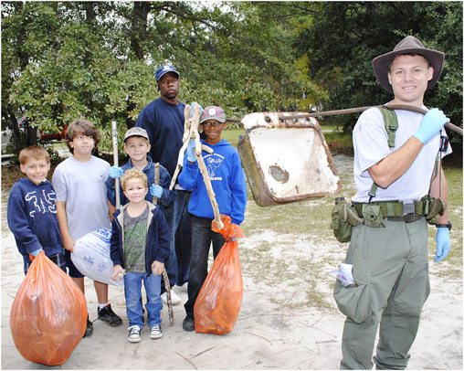 These scouts found the kitchen sink in our waterways, literally!